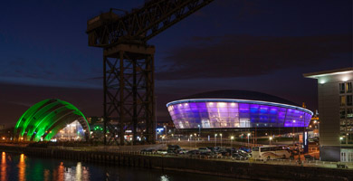 Glasgow river clyde evening