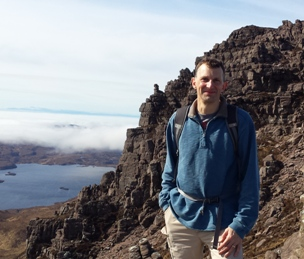 Tim Lloyd on Stac Polaidh near Ullapool