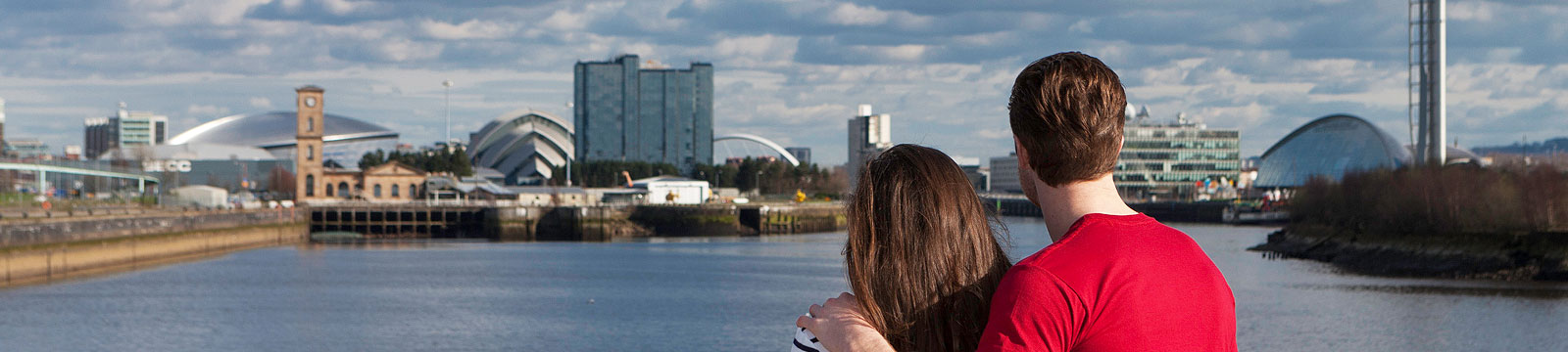 Couple overlooking Glasgow